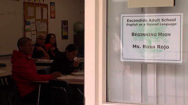 Students learn to speak English at Escondido Adult School...