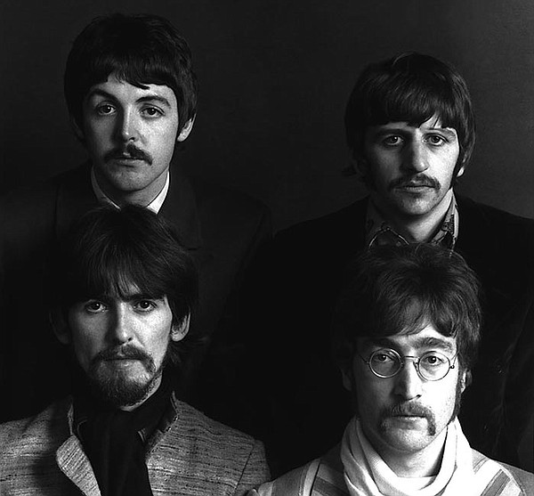 The Beatles (clockwise, from bottom left): George Harriso...