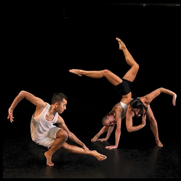 A 2017 photo of Malashock dancers Justin Viernes, Andrea Rehm and Lara Segura.