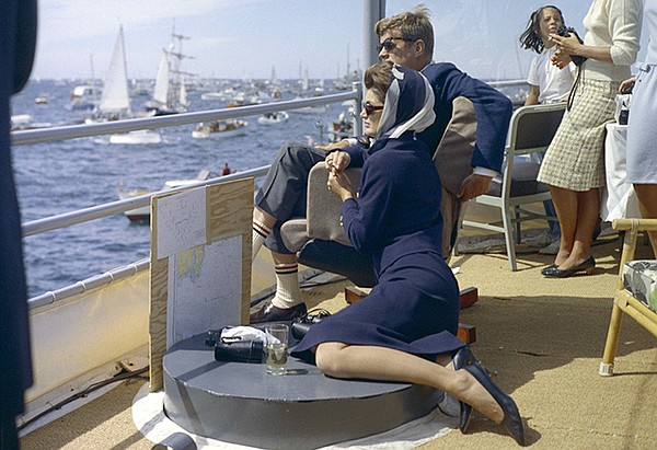 President John F. Kennedy and First Lady Jacqueline Kenne...