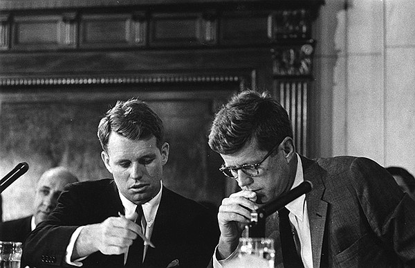 Robert F. Kennedy and John F. Kennedy during the McClella...