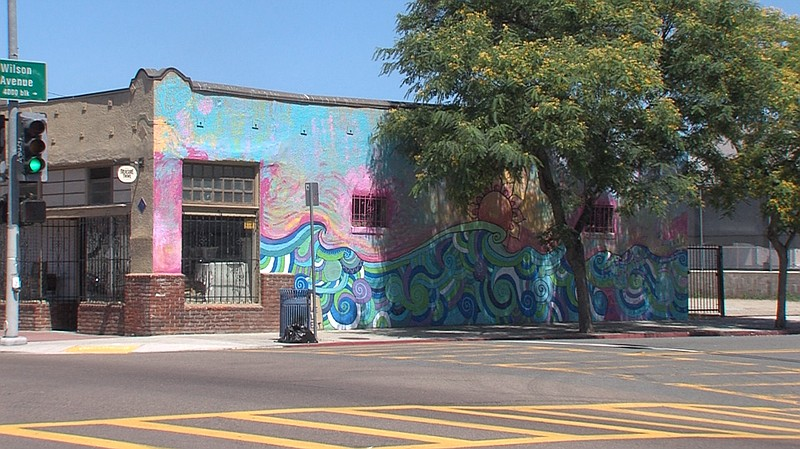 "The ""Endless Summer"" mural by Erin Bowman depic..."