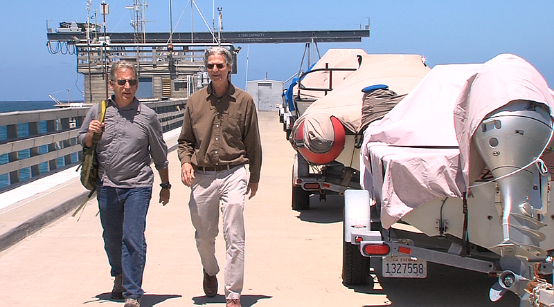 Scripps Center for Marine Archeology co-directors John Hildebrand and Tom Lev...