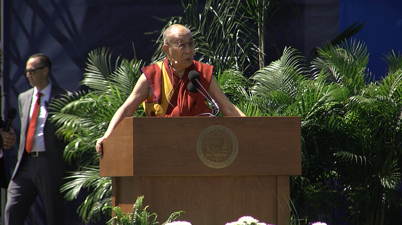 The 14th Dalai Lama speaks at UC San Diego, June 16, 2017.
