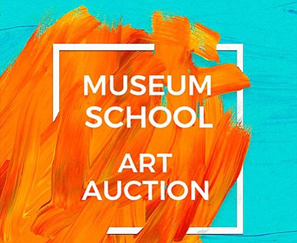 A promotional poster for the Museum School's annual art auction.