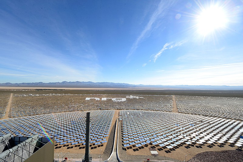 The Ivanpah Solar Electric Generating System, which has a total of 347,000 mi...
