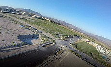 The view of an empty field in Chula Vista from ...