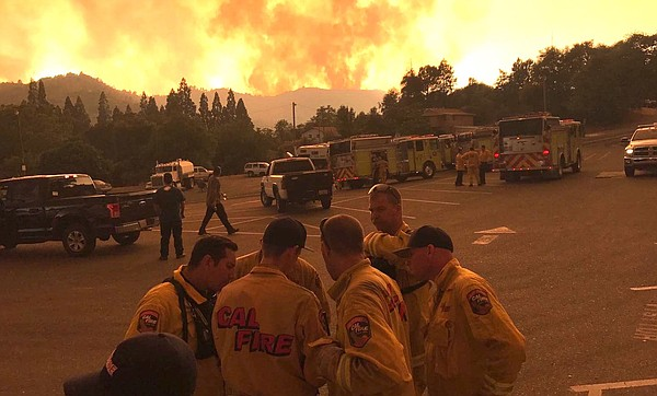 More than 2,200 firefighters are battling the Detwiler fire, burning near Yos...