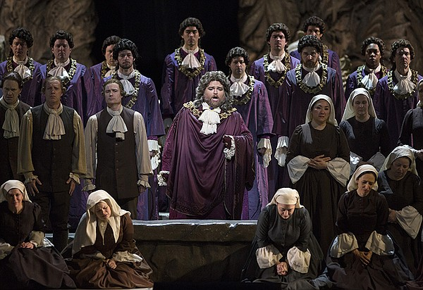 "Noah Baetge as the High Priest in Mozart's ""Idomeneo."""