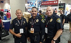 San Diego Police Officers from left: Captain Joe Ramos, Assistant Chief Keith...