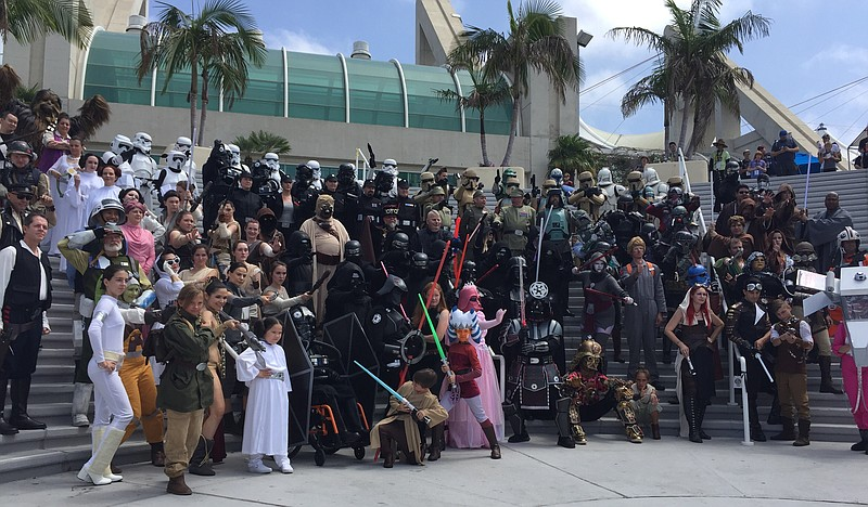 A group of cosplayers gathers for the tradition...