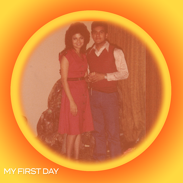 David and Esperanza in San Diego on the day of their engagement, Dec., 1977