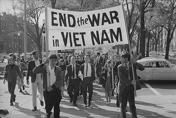 College students march against the war in Boston. Oct. 16...