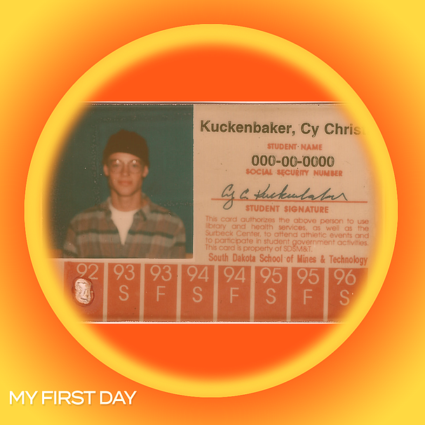 Photo of Cy Kuckenbaker's college ID, taken soon after his first visit to San...