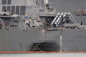 San Diego-Based USS America Helps Search For Missing USS McCain Sailors