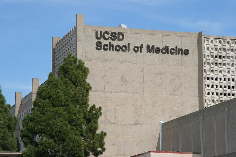 The UC San Diego School of Medicine building shown in this undated picture. ...