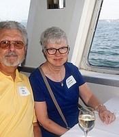 PC members Gale and Suzanne Hunt aboard the Hornblower cruise ship.