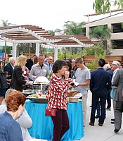 KPBS Producers Club members and KPBS staff enjoy light hors d'oeuvres at the Rady Children's Hospital.