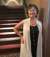 KPBS Producers Club member Peggy Matarese at the Balboa Theater.