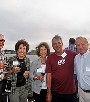 PC members Don Yerkes, Diane Yerkes, Joyce Genna, and Tony Genna with KPBS General Manager Tom Karlo aboard the Hornblower cruise ship.