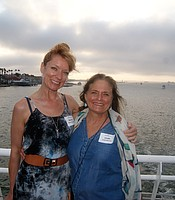 PC members Marisa Evanovski and Linda McCray aboard the Hornblower cruise ship.