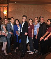 KPBS staff with This American Life host Ira Glass at the Balboa Theater.