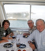 PC members Diane & Don Yerkes with PC members Joyce & Tony Genna aboard the Hornblower cruise ship.