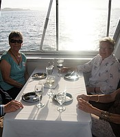 PC members aboard the Hornblower cruise ship.