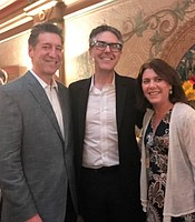 National Conflict Resolution Center President Steve Dinkin and his guest with Ira Glass at the Balboa Theater.