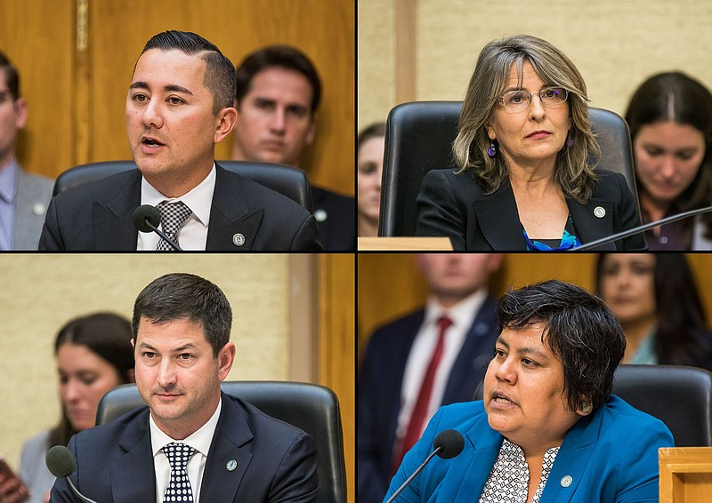 Clockwise from upper left: San Diego City Council members Chris Cate, Lorie Z...
