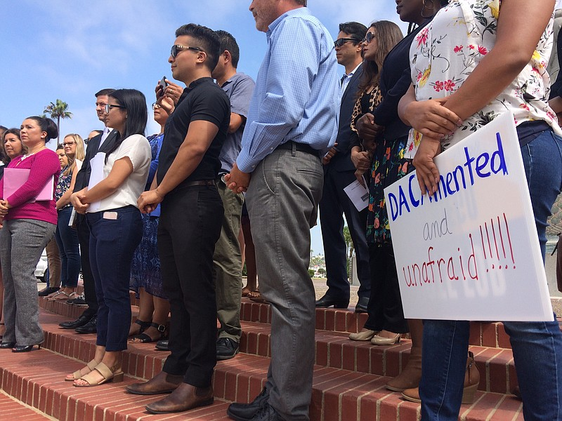 San Diego immigrant and education leaders, as well as elected officials, join...