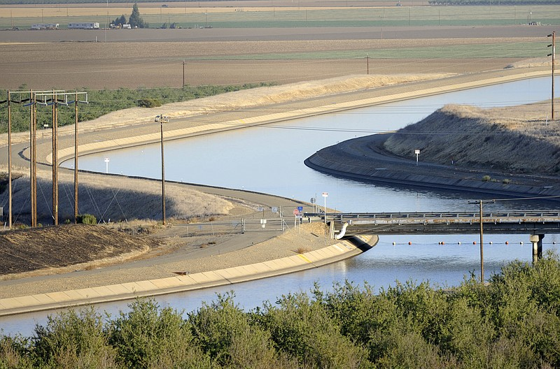 In California's Westland Water District of the Central Valley, canals carry w...
