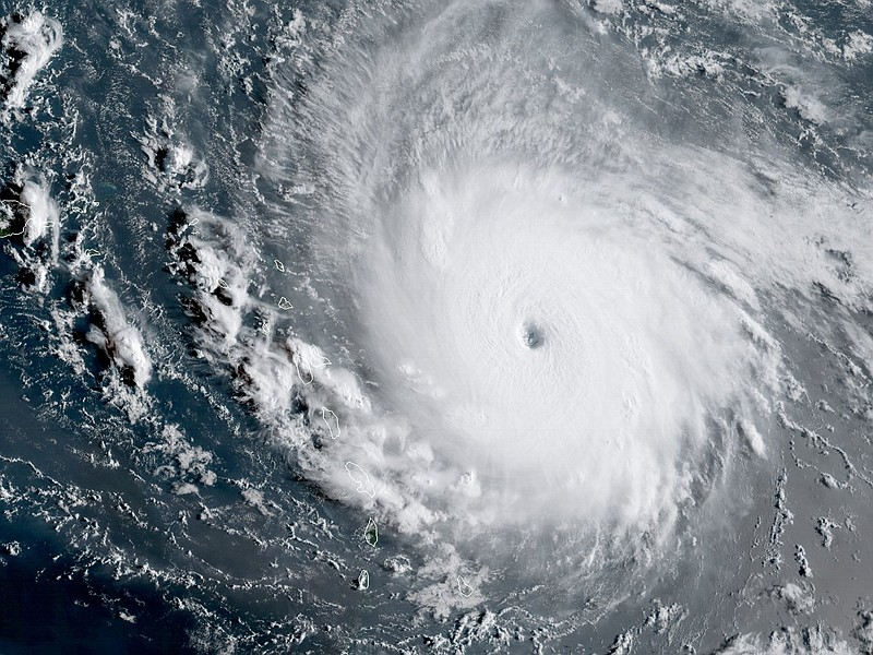 A Satellite's view of Hurricane Irma as a Category 5 storm, Sept. 7, 2017.