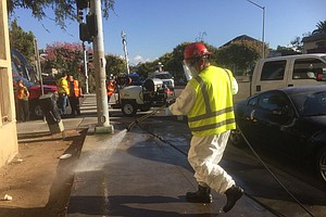 More Streets Power Washed In Effort To Curb San Diego Hepatitis A Outbreak