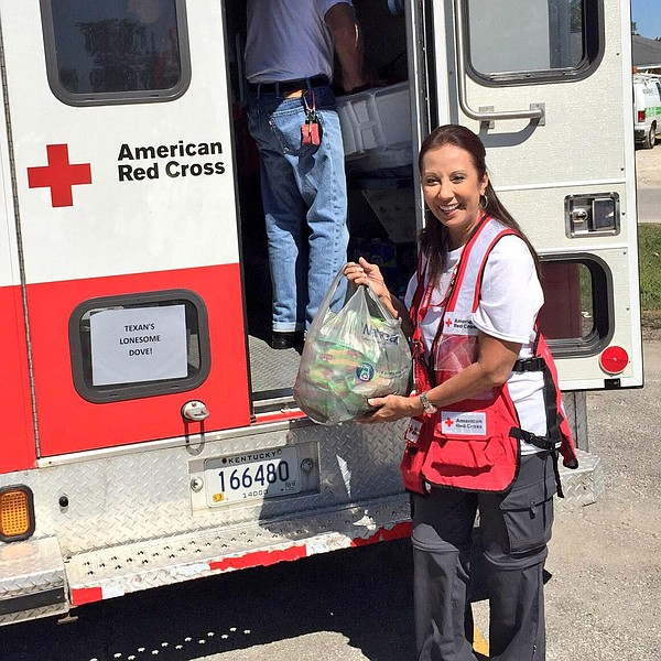 American Red Cross Volunteer and Chula Vista resident Marie Sablan poses for ...