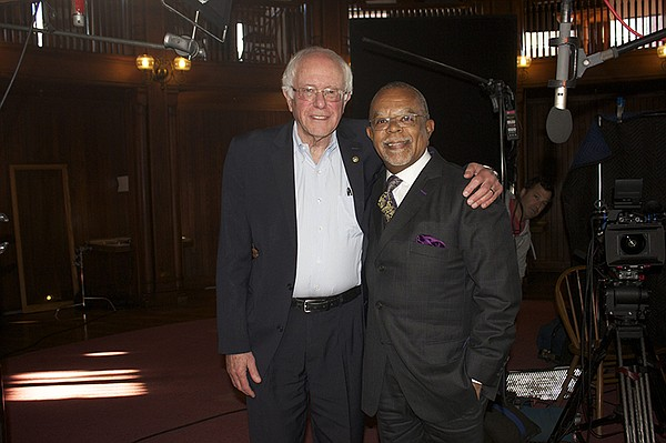Henry Louis Gates, Jr. with Bernie Sanders on the set of ...