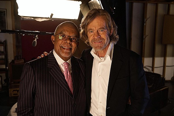 Henry Louis Gates, Jr. with William H. Macy on the set of...
