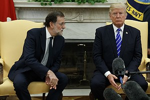 Trump, Spain's Prime Minister Meet Before Secession Vote