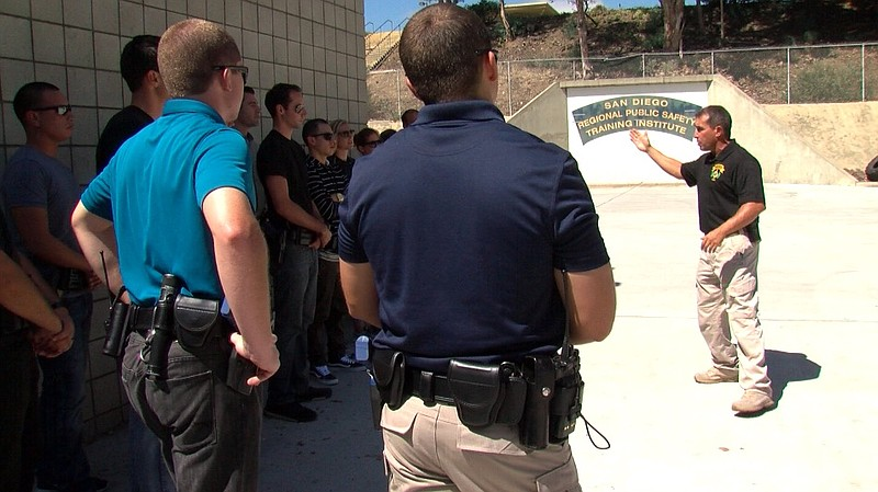 Newly graduated San Diego Police officers attend Psychiatric Emergency Respon...