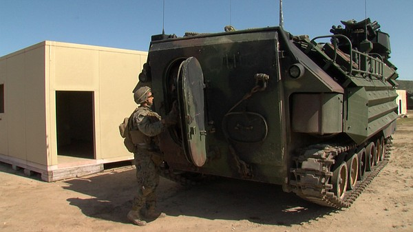 An Amphibious Assault Vehicle during spring exercise at C...