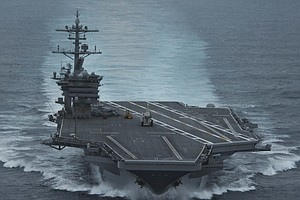 San Diego Based USS Theodore Roosevelt Arrives In Western Pacific