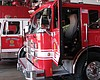 San Diego Fire-Rescue Department fire trucks ar...