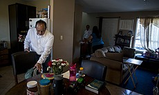 Eduardo Bohorquez, who left the U.S. in 2004 to comply with a deportation ord...