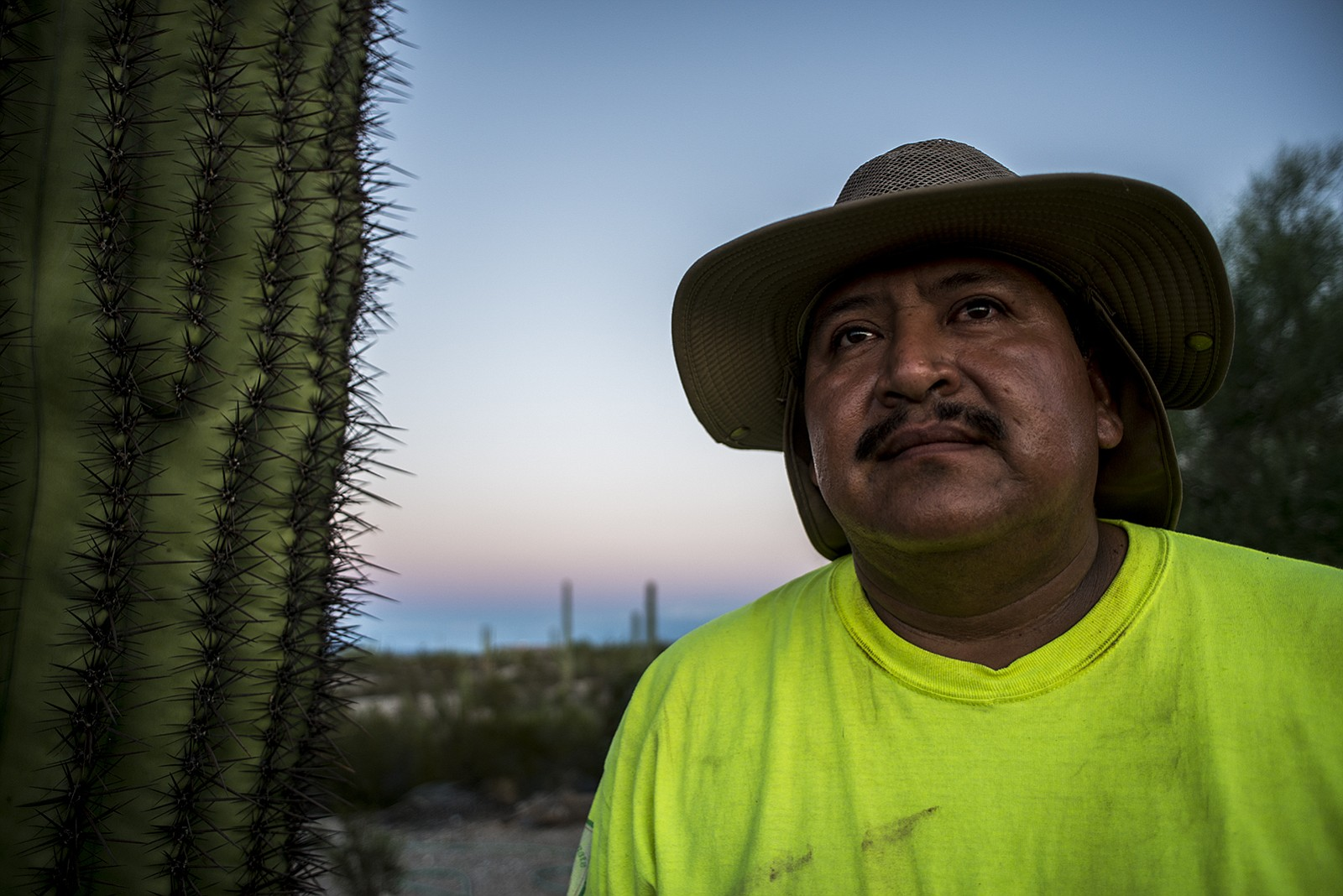 Ely Ortiz, founder of Aguilas Del Desierto, poses for a portrait on Aug. 26, ...