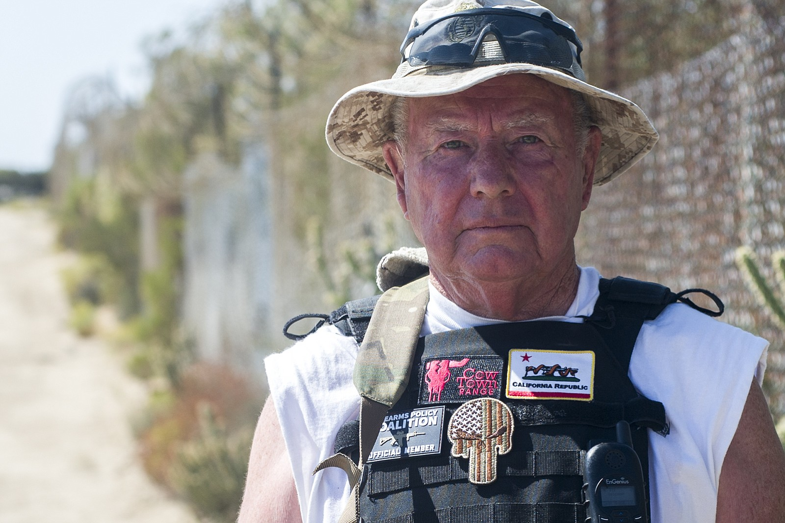 Bob Maupin, 78, owns around 250 acres of land – parts of which border Mexico ...