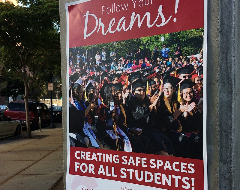 A flyer showing support for immigrant students affected by the Deferred Actio...