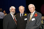 From left to right, Hall of Fame Inductees Paul Marshall, Paul Steen and John Witherspoon at the 2010 Hall of Fame ceremony, September 2010.