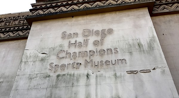 The old San Diego Hall of Champions building in Balboa Pa...
