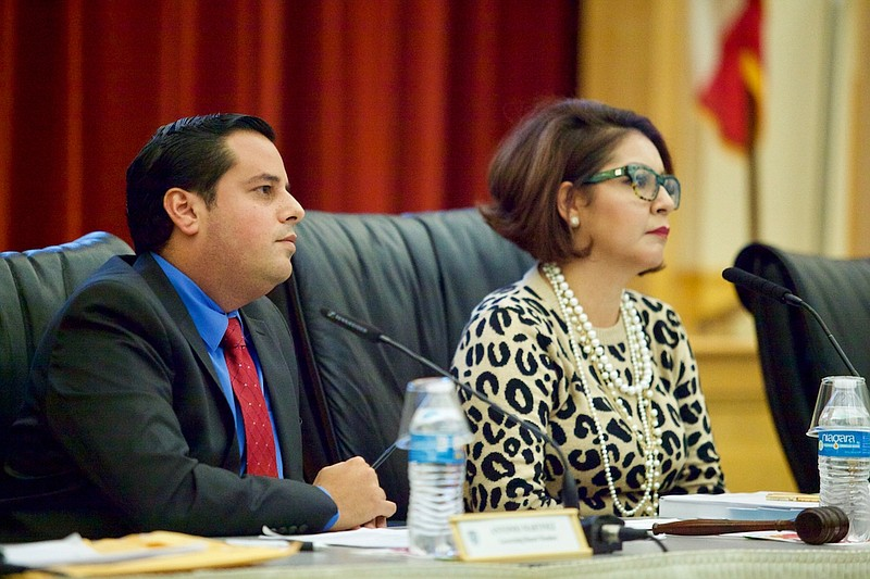 San Ysidro School District Board President Rosaleah Pallasigue and Board Memb...