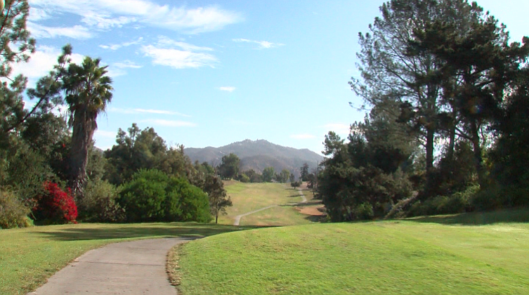 The view from the cart path along the north end of the StoneRidge Country Clu...